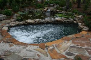 Natural Stone Spool / Fish Pond