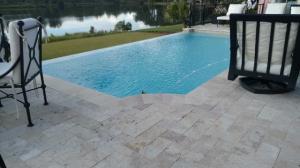Ivory Paver deck - Vanishing Edge pool